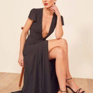 Reformation Rosey Dress (Size: M), B/W Polka Dot